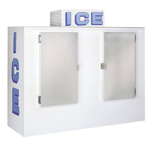 Two Solid Doors Ice Storage Box Copper Fin Type