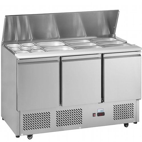 Stainless Steel Prep Table Refrigerator
