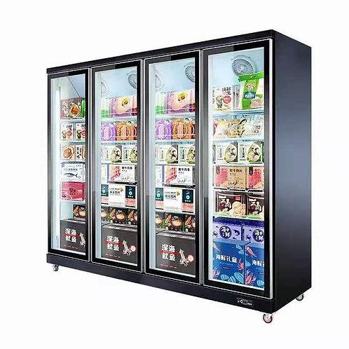 Multi Glass Doors Supermarket Freezer(-18℃ to 22℃)
