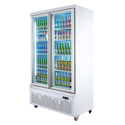Double door beverage display chiller ( 0℃ to 10℃ )