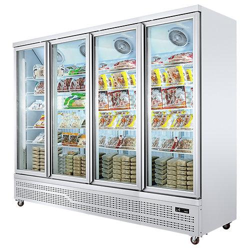 4 doors supermarket display freezer