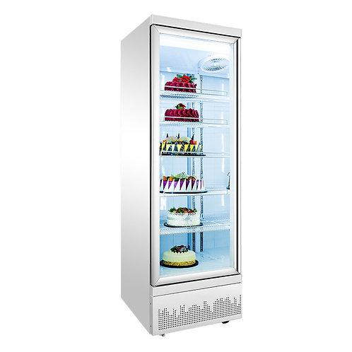 Bottom mount display freezer