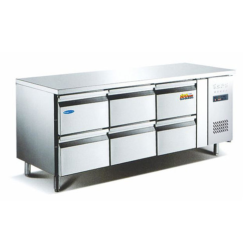 Stainless Steel Worktop Freezers With Drawers