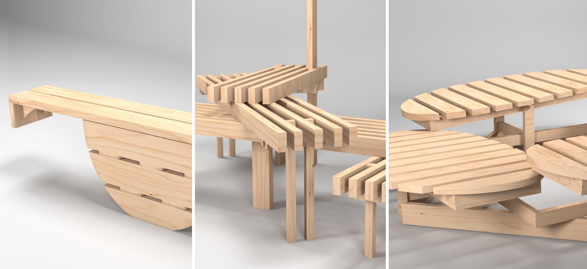 Social Distance Urban Furniture