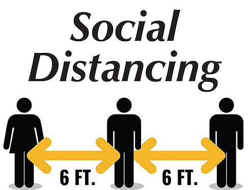 """6Ft Distance Sign - Generic - 8.5""""h  x 11""""w"""