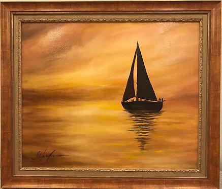 """Картина """"В море.."""""""