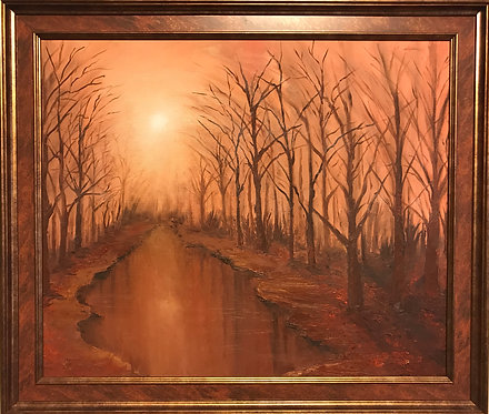 """Картина """"Рассвет в лесу"""""""