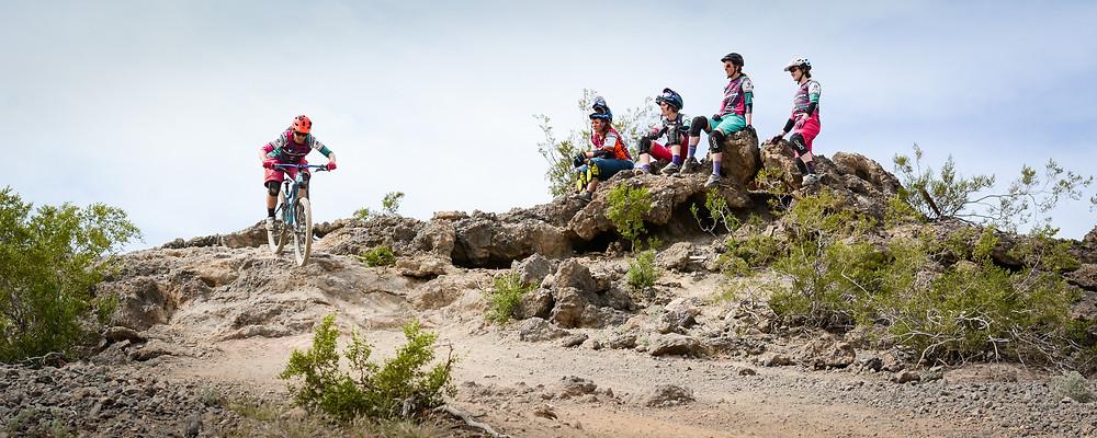 Mountain bike clinic muddbunnies race team. giant reign