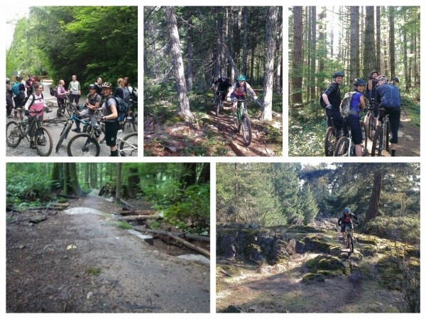 Vancouver Island, Cumberland group mountain bike ride