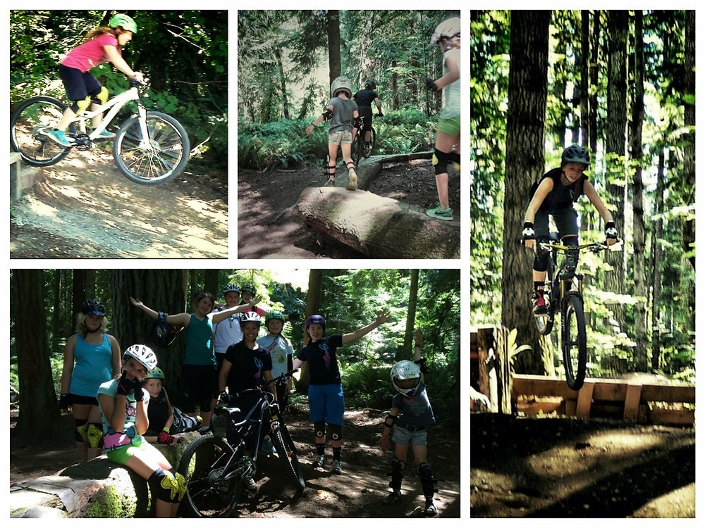 Sweetlines gravity girl camp. youth camp. mountain biking. kids skill camp