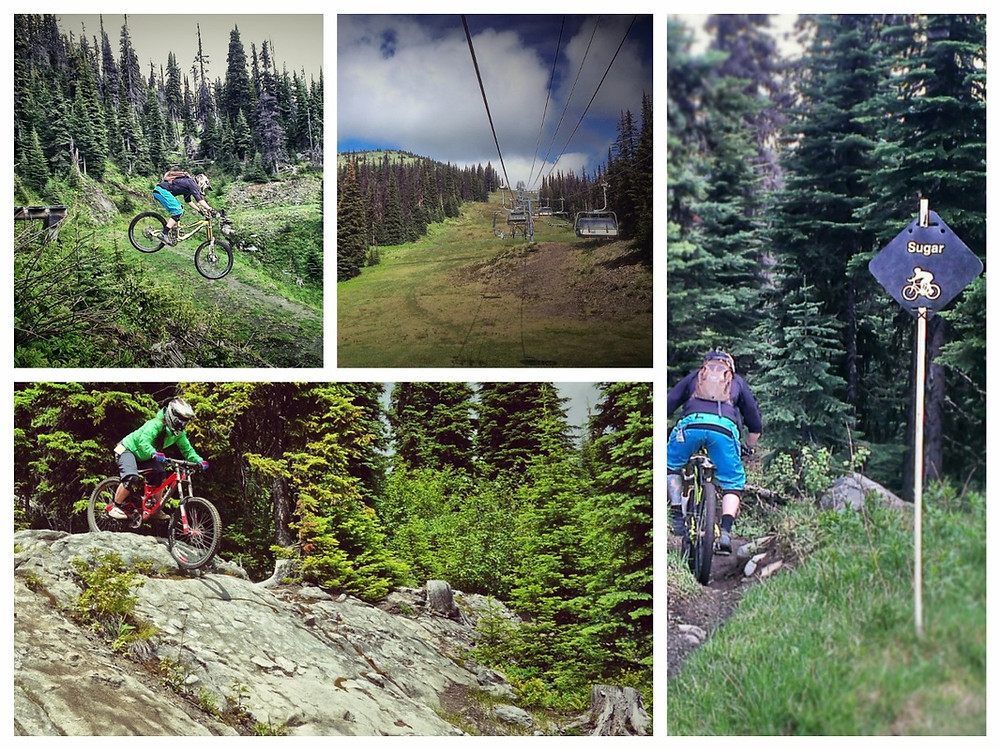 Sunpeaks mountain bike park. downhill. lift assisted