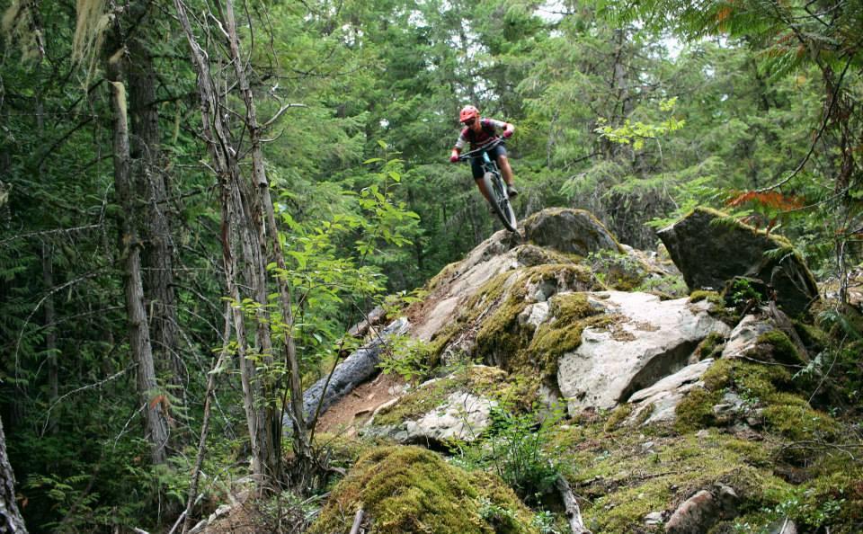 Liv Hail Giant on Green Monster mountain bike trail Whistler
