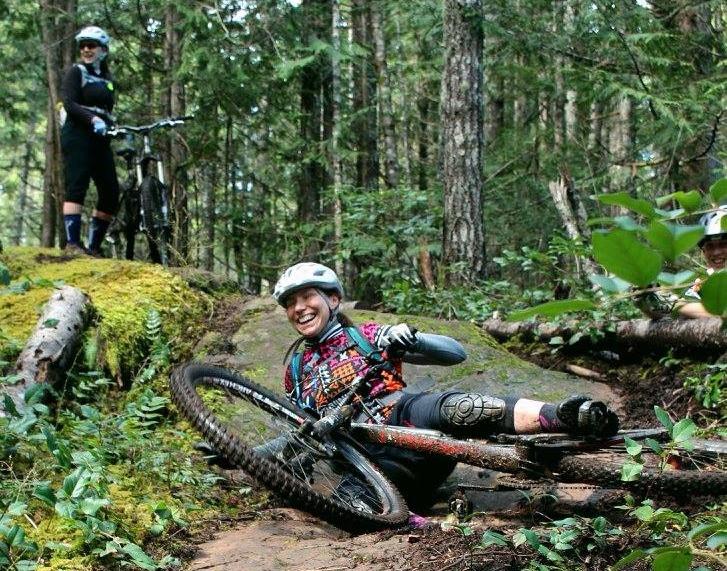 mountain bike crash. forbidden plateu.