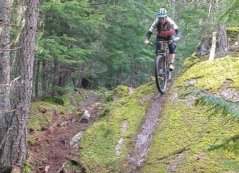 Rocky Mountain Element 29er on Whistler trail Green Monster