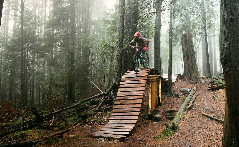 endless biking on the north shore nsmba trails Boogieman Mt Seymour. rollercoaster Giant Liv Reign