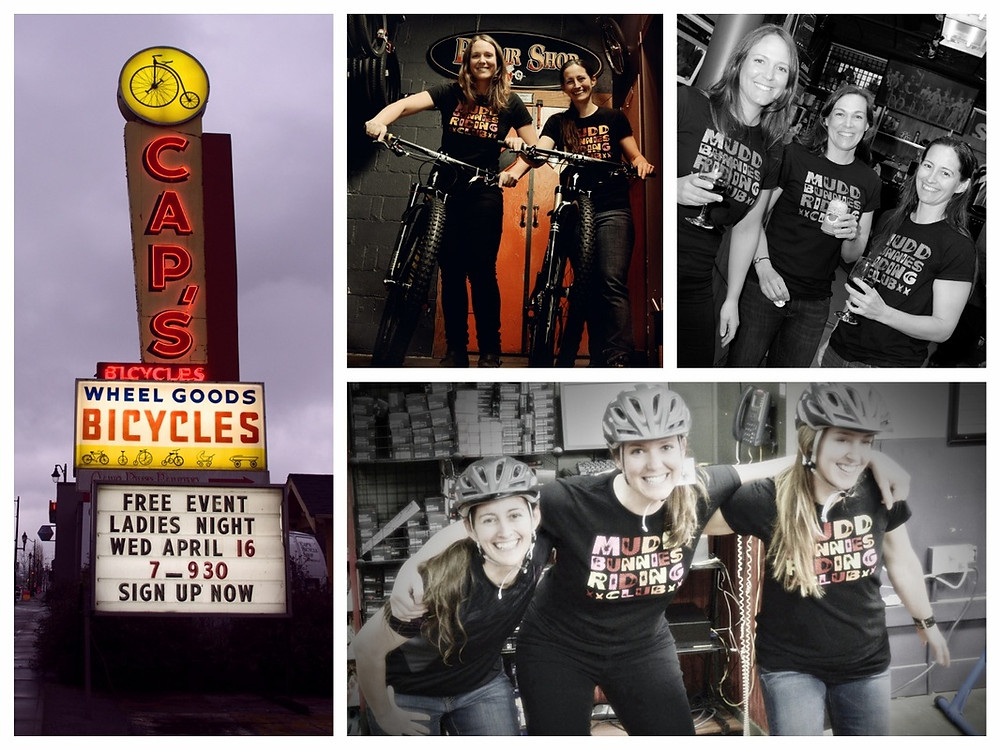 Muddbunnies Mountain Bike Ambassador, Ladies night at Cap's Bicycle with Specialized