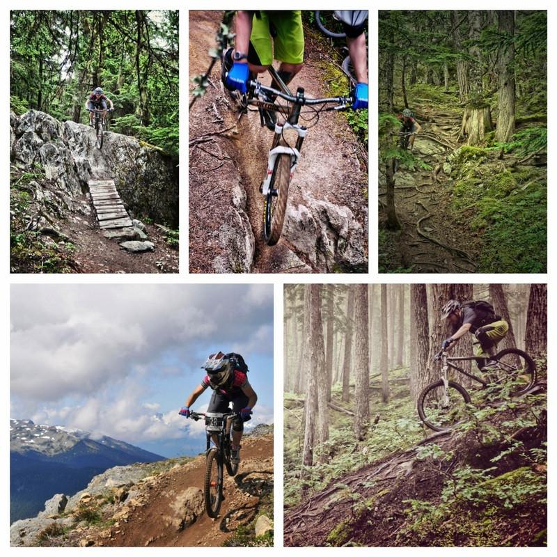 Whistler westside endless biking on trails.  WORCA