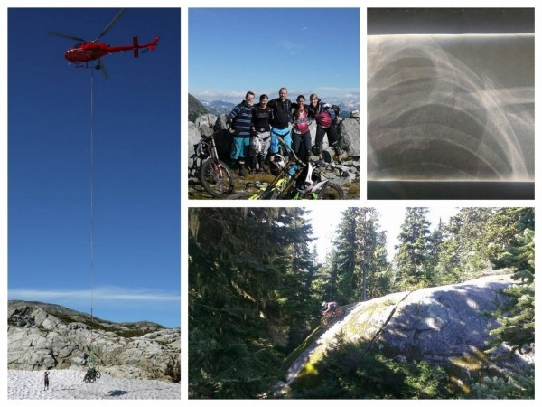 Heli-biking Whistler Rainbow, mountain bike adventure, downhill