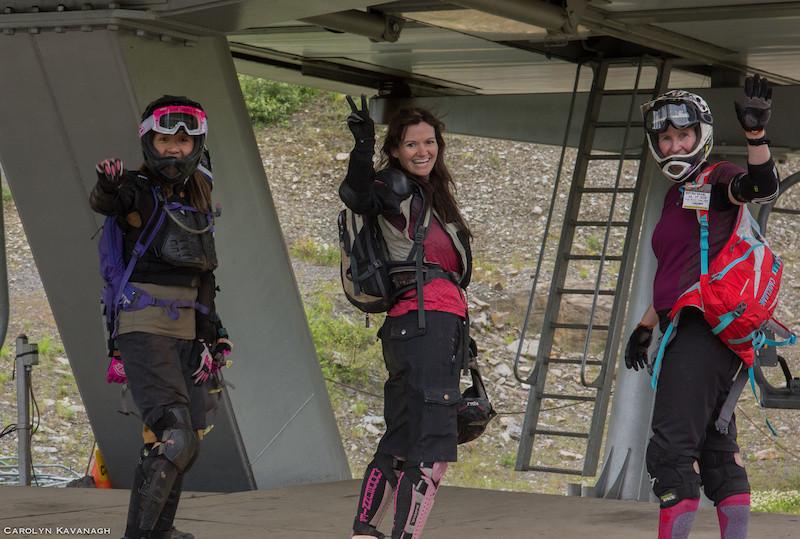 Happy mountain bike ladies. Silver star bike park ladies weekend