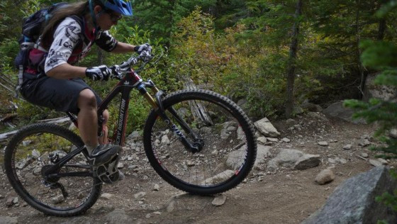 coach jaclyn climbing mountain bike whistler
