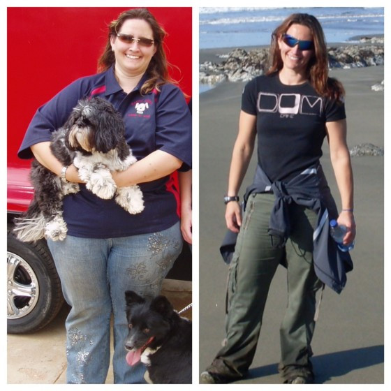 Before adn after weight loss photo