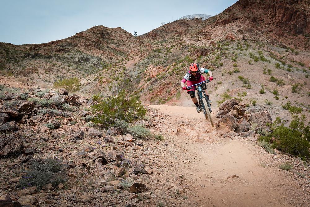 Giant Reign Liv Hail desert riding Las Vegas Bootleg canyon muddbunnies race team
