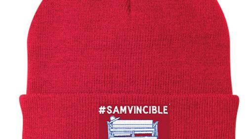#SAMvincible Embroidered Knit Cap