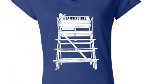#SAMvincible Gildan Heavy Cotton™ Ladies' V-Neck T-Shirt