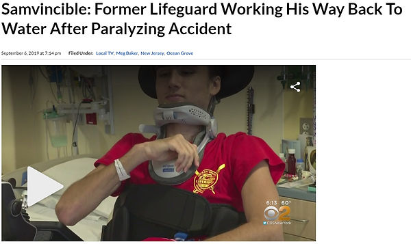 Samvincible: Former Lifeguard Working His Way Back To Water After Paralyzing Accident