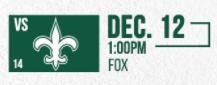 Saints vs Jets