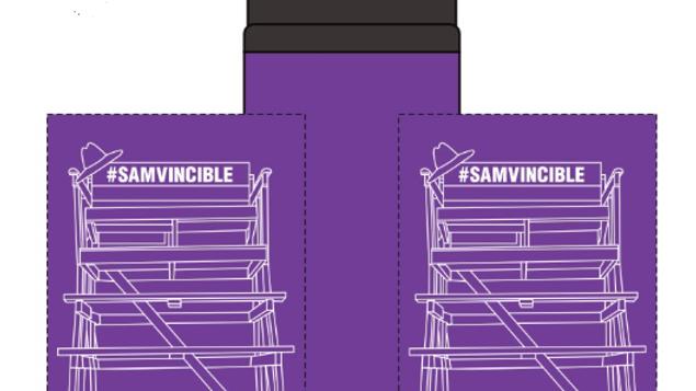 #SAMvincible Sip & Flip Aluminum Bottle - 24 oz.