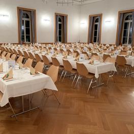 Bestuhlung mit Tischreihen