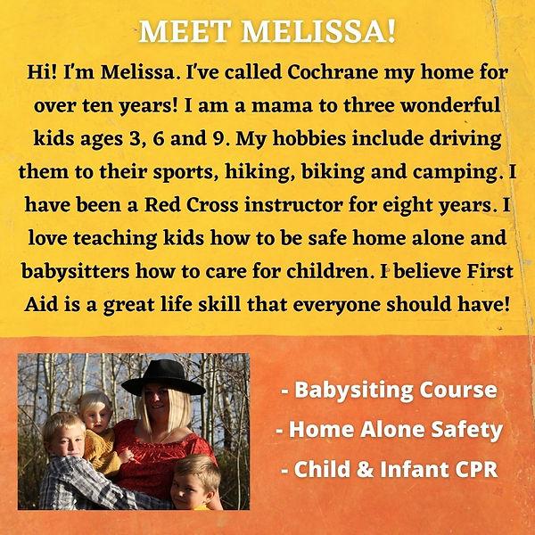 Hi! I'm Melissa. I've called Cochrane my