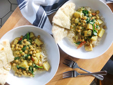 Curried Coconut Chickpeas