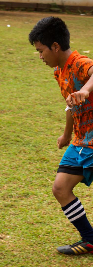 Fussballspieler in Laos