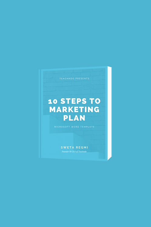 10 Steps to Marketing Plan Template