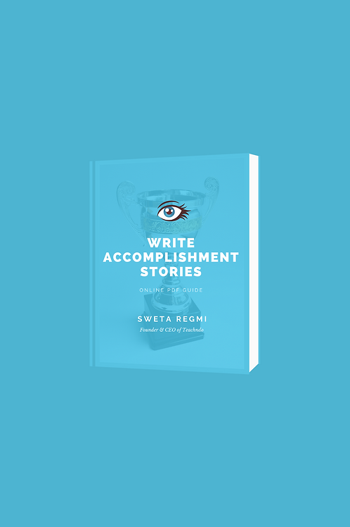 How to write accomplishment stories in resume e-book