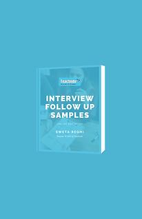 Interview Follow Up Samples E-Book