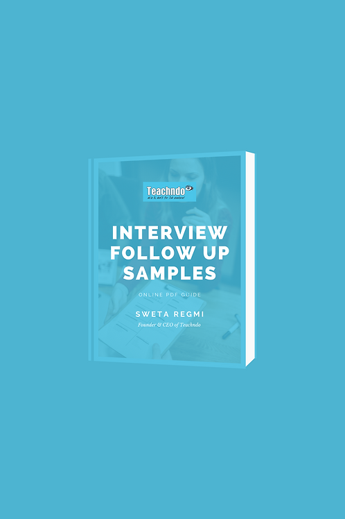 Interview Follow Up Samples E-Book