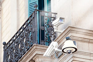 cctv-video-surveillance-cameras-on-an-bu