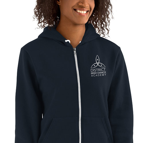 Embroidered Academy Zip Hoodie