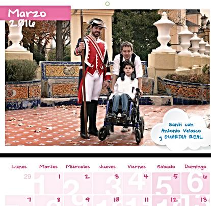 Participación en el Calendario Benéfico para DEDINES 2016. Fotografo Fernando López