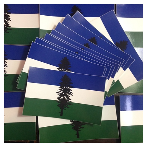 Cascadia Doug Flag Stickers