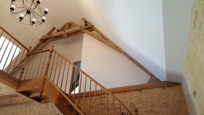 le palier de l'escalier