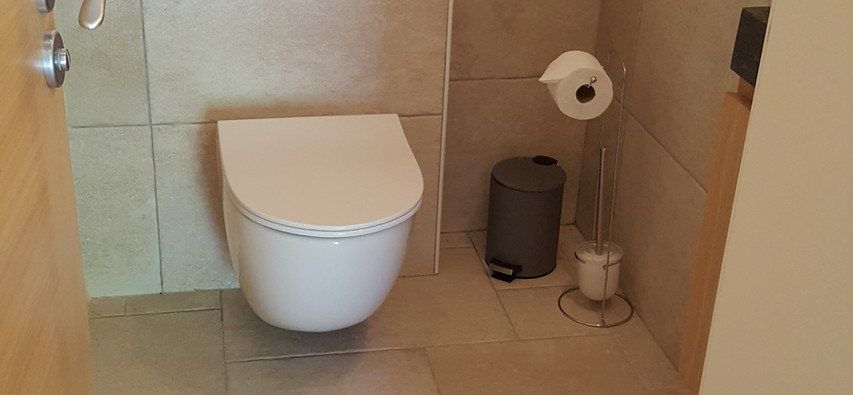 wc séparé avec variateur de lumière