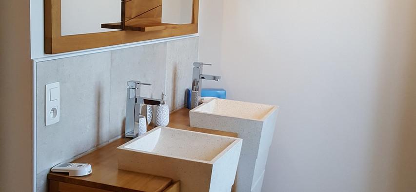 la salle de bain double vasque