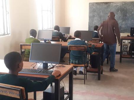 Digitization in Schools:  Computer Classroom in Tanzania  in Full Swing