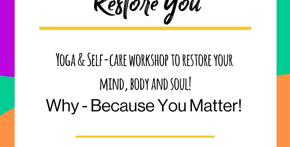 Restore You - Kids - 18th July