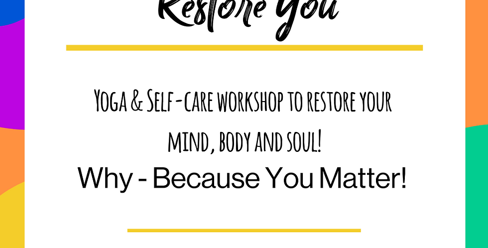 Restore You - Teens - 25th July