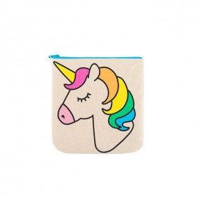 Fluf Unicorn Zip Bag